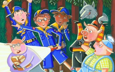 Cub Scout and the Three Pigs