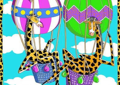 Giraffes in Hot Air Balloons
